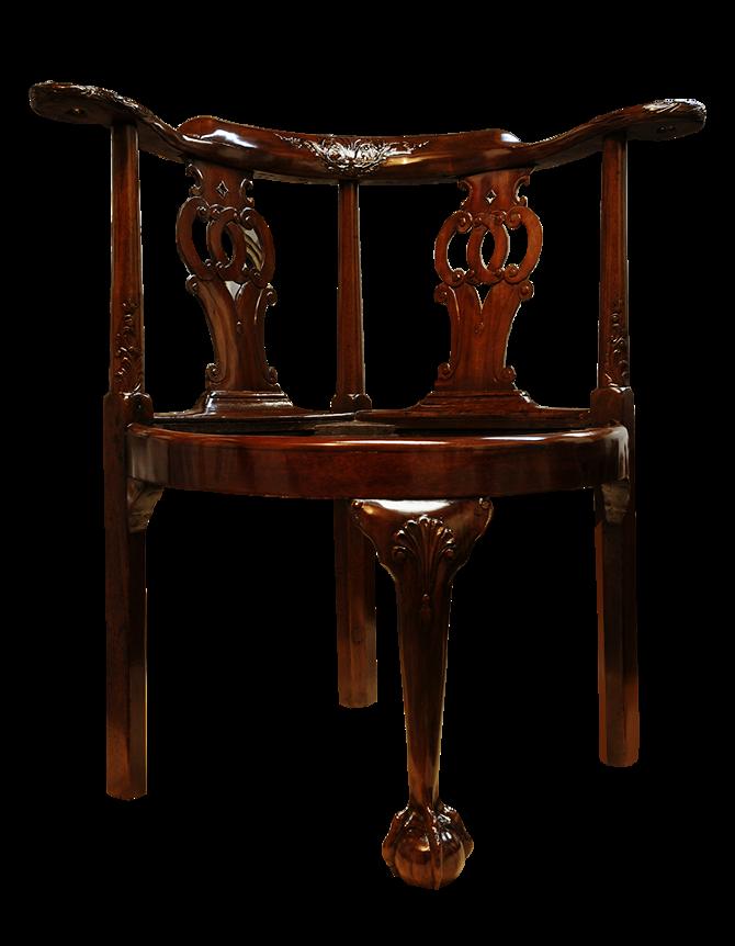 Corner Chair - Alcedines Antique  Art Restoration Studio