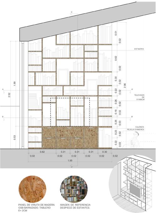 Tetris bookshelves Marta Catalan I A R C H I T E C T